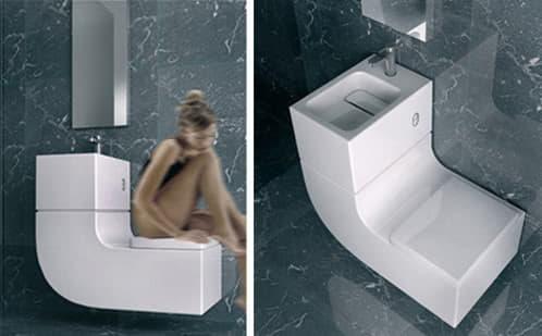 Combinación lavabo+inodoro de Roca