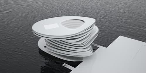 vista aérea modelo 3D hotel helix