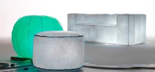 Muebles inflables con luz led en su interior via lattea for Muebles hinchables