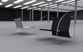 La silla que parece flotar