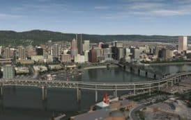 La ciudad de Portland en 3D