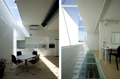 casa moderna con huecos cenitales