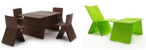 Zigzag muebles ecol gicos de dise o para el jard n joel escalona - Muebles jardin fibra sintetica ...