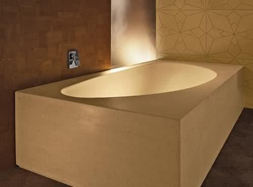 bañera de piedra tallada a mano