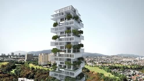 torre viviendas con jardín en méjico