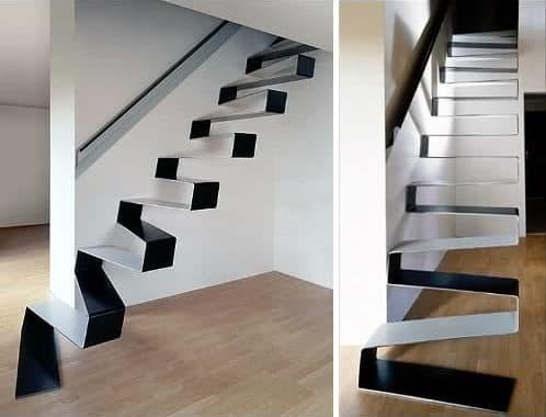 La escalera es una cinta