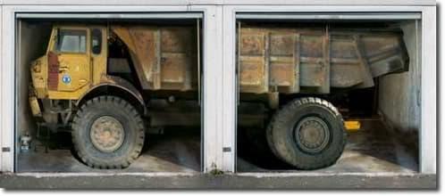 camion para dos puertas de garaje