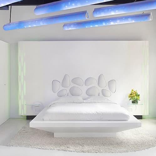 dormitorio hecho con material corian