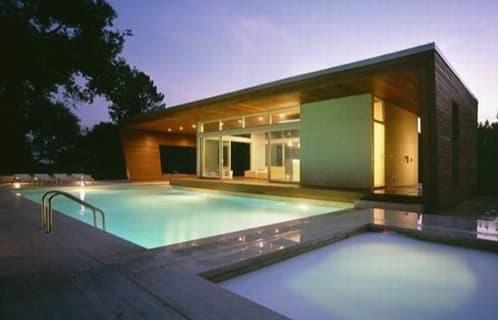 edificio auxiliar para la piscina
