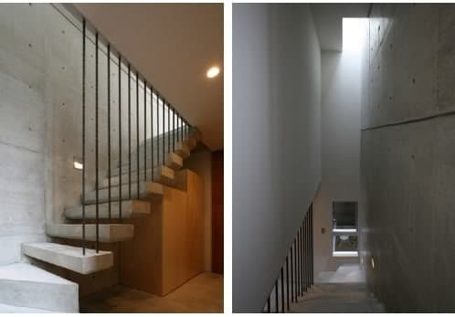 Casa mukaiyama una vivienda minimalista de hormig n visto - Escaleras de hormigon armado visto ...