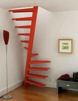 Escalera de caracol en 1 metro cuadrado y en acero for Como hacer una escalera en caracol