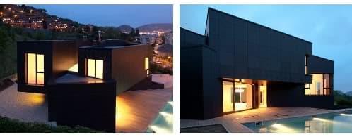 vistas exteriores moderna vivienda paneles composite