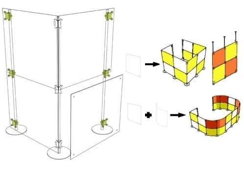 montaje de tabiques con paneles Fluowall