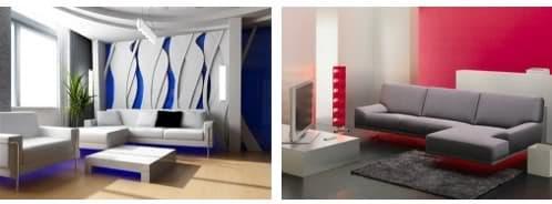 decoración con leds bajo los muebles