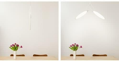lámpara de colgar con tecnología oled y control remoto