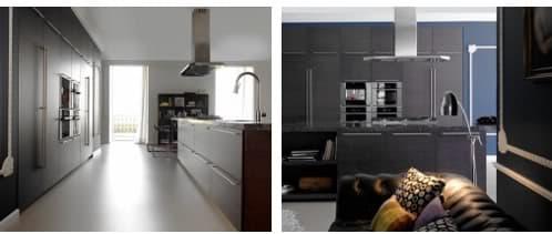 Cocina empotrada y con isla madera de roble y marmol for Empresa vasca muebles baratos