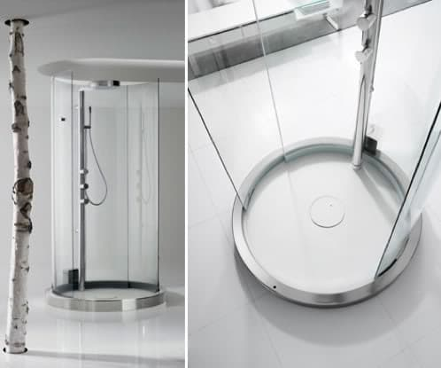 Transtube cabina de ducha cil ndrica de roca for Cabinas de ducha roca