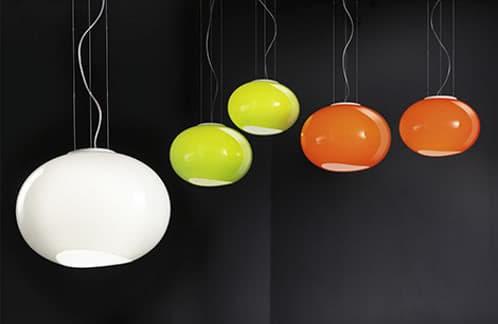 lámparas modernas forma de globo