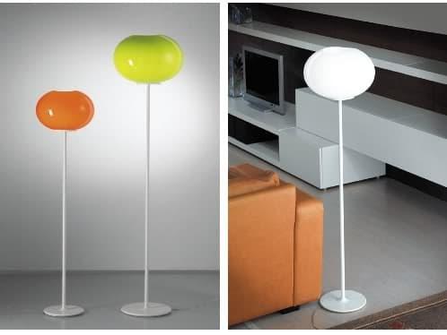lámparas de pie con difusor en forma de globo de cristal
