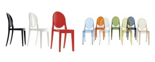 sillas de policarbonato de Philippe Starck