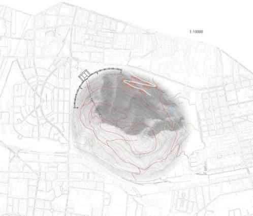 plano propuesta montaña para Berlín