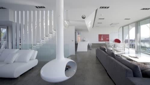 interior casa moderna y futurista en Sydney