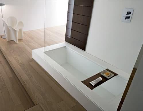 Ba era convertible en ducha mediante tableros de madera Dimensiones de una banera