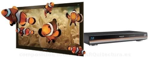 modelos de Panasonic de televisores y blu-ray para 3D