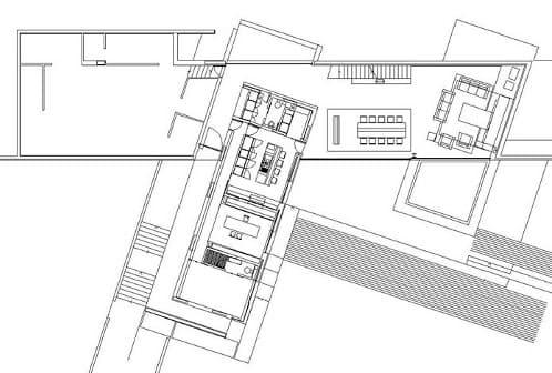 plano planta baja casa Santander de A-cero