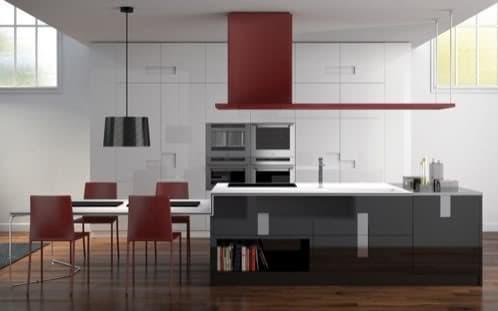 Muebles de cocina italiana con isla y brillo ernestomeda for Muebles carre