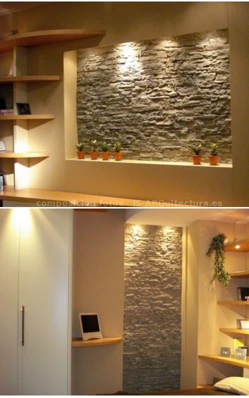 Consejos para decorar interiores con piedra for Piedra artificial decorativa para interiores