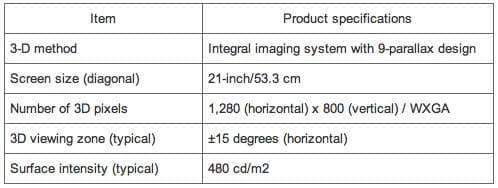 especificaciones-3D-toshiba autoestereoscópico