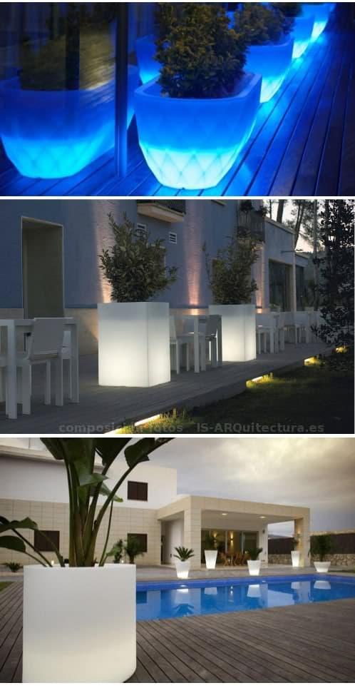 maceteros-luminosos-vondom para el jardín o patio