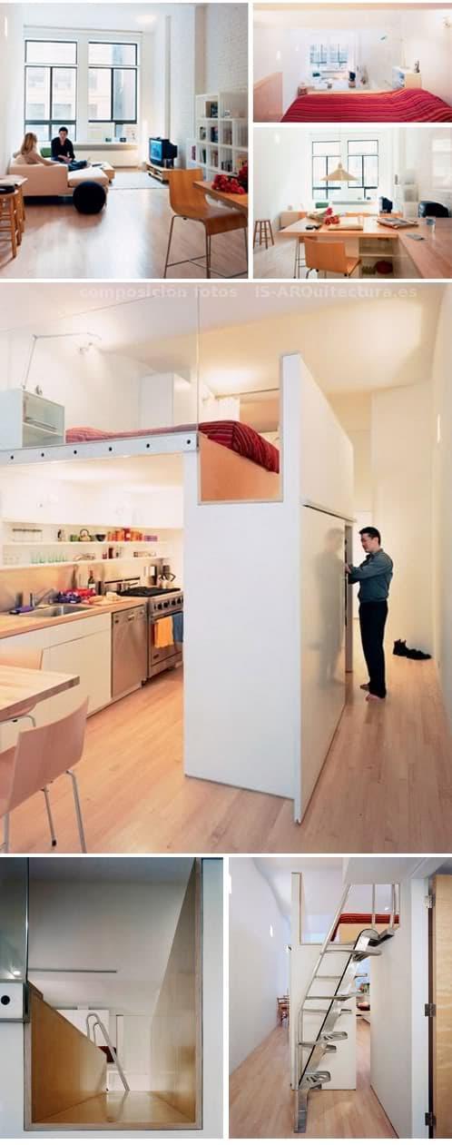 Peque o apartamento con dormitoriio en altillo Apartamentos con altillo