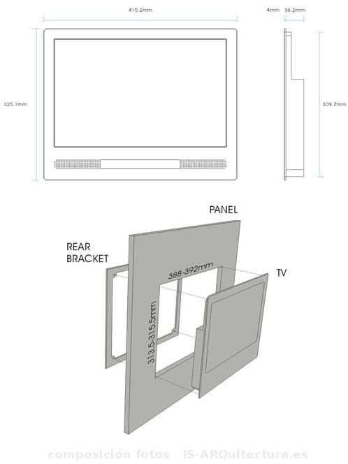 Luxurite tv tele para empotrar en los muebles de cocina - Television cocina ...