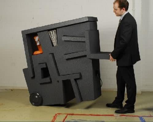 Kruikantoor escritorio m vil y compacto for Oficina portatil