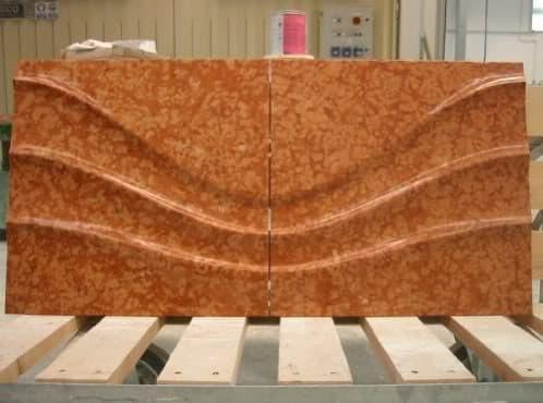 Revestimiento con paneles de piedra tallada - Paneles de piedra natural ...