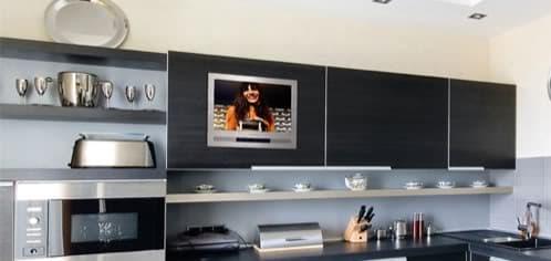 Luxurite tv tele para empotrar en los muebles de cocina - Television en la cocina ...