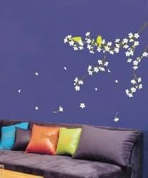 decoración adhesiva con motivos florales
