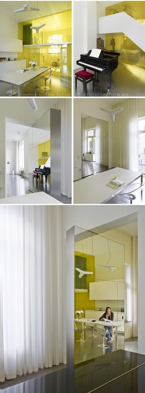 loft_Geeraert con una zona de amarillo