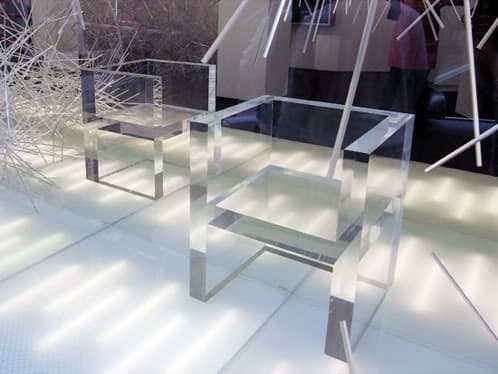 muebles transparentes The Invisibles del artista japonés Tokujin Yoshioka