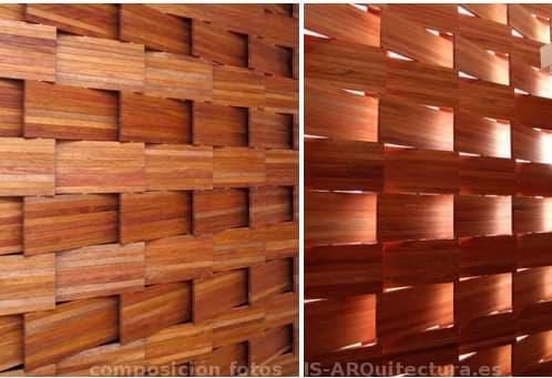 Paneles separadores de madera con plegado en tijera - Paneles madera exterior ...
