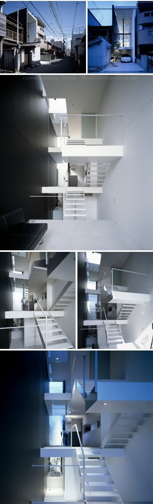 casa entre medianeras en Showa-cho (Osaka) de Shintaro Fujiwara