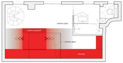 plano de estudio-con-estanteria-movil