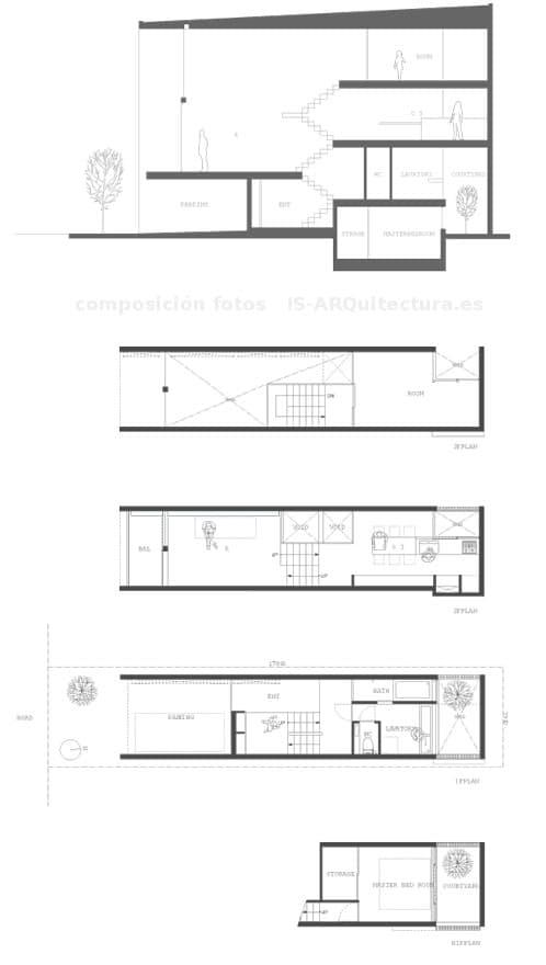 planos-casa-Showa-cho y seccion