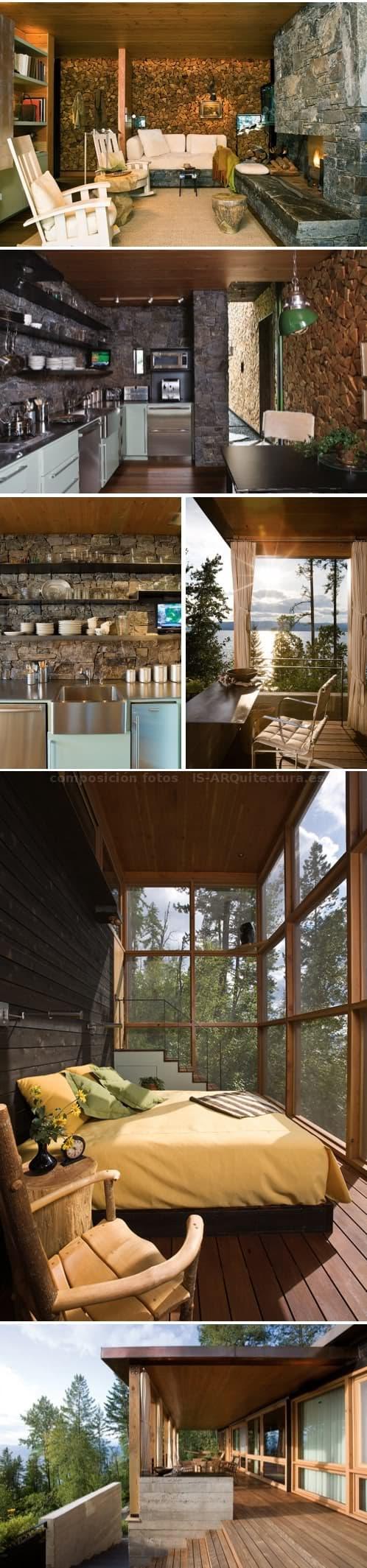 casa-refugio-lago_flathead-fotos del interior
