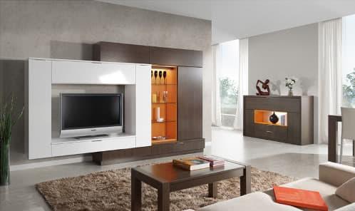 Mesas y muebles modernos para la tv for Mesas de televisor modernas