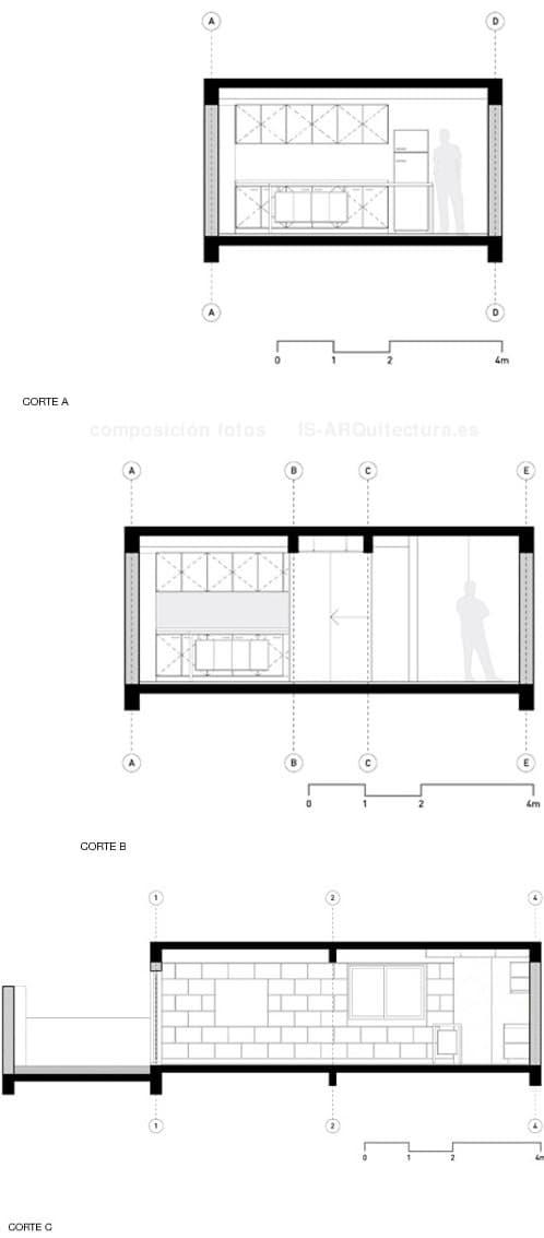 plano-secciones-apartamento-Langhammer reformado