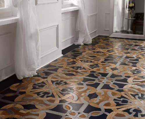 Pavimento en mosaico multi-material de Parchettificio