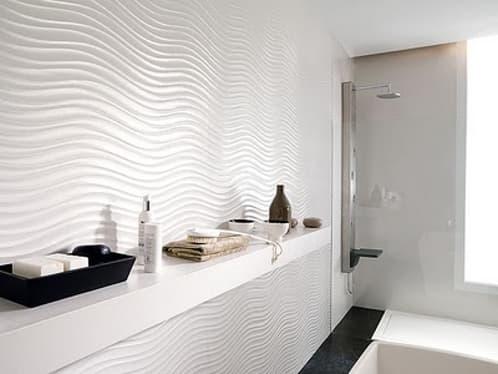 Qatar un azulejo de gran formato para el ba o de porcelanosa for Azulejos relieve bano